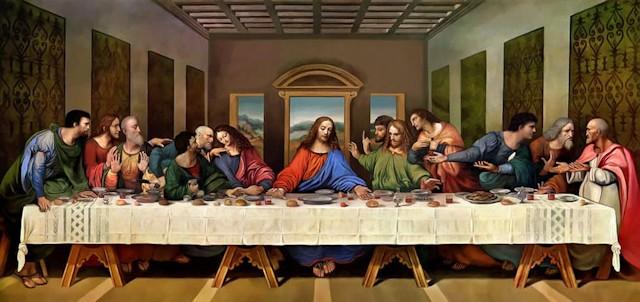 The Last Supper painting by Leonardo da Vinci