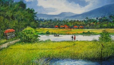 How to Make a Huge Landscape Art Painting