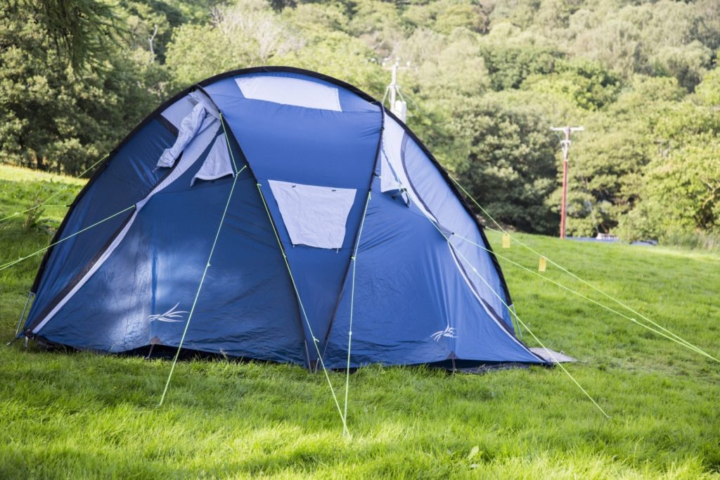 Camping tent and rope